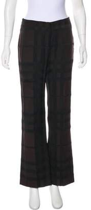 Burberry Exploded Check Mid-Rise Pants