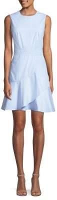Draper James Striped Ruffle Cotton Dress