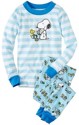 Kids Peanuts Long John Pajamas In Organic Cotton $48 thestylecure.com
