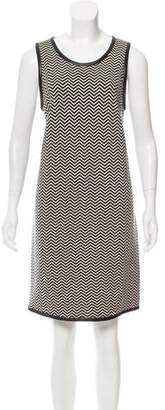 Anna Sui Chevron Pattern Wool Dress