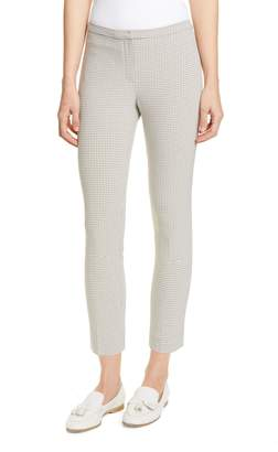 Theory Classic Plaid Skinny Fit Ankle Pants