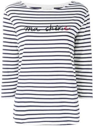 Parker Chinti & striped slogan top