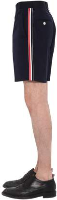 Thom Browne Cotton Blend Chino Shorts W/ Side Bands