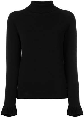 Twin-Set ruffled sleeve sweater