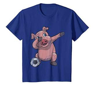Kids Dabbing Soccer Pig Dab Youth Shirt