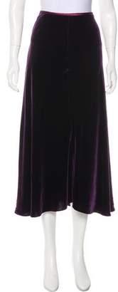 Brooks Brothers Velvet Midi Skirt