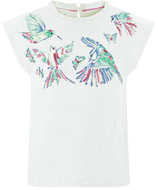 Monsoon Jasmine Bird Tee