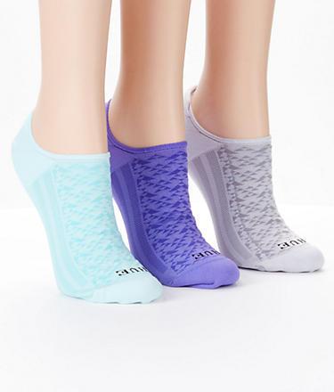 HUE Air Sleek Cushion Liner Socks 3-Pack