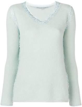 Ermanno Scervino lace trim sweater