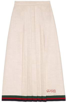 Gucci Linen pleated skirt
