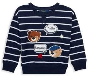 Ralph Lauren Little Girl's& Girl's Chenille Bear Knit Top