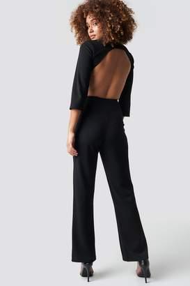 Na Kd Party Open Back Jumpsuit Black