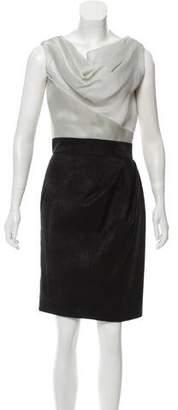 Christian Siriano Silk Knee-Length Dress