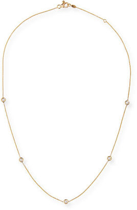 Roberto Coin 18k Gold Diamond Station Necklace $1,080 thestylecure.com