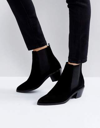 H By Hudson Suede Ankle Boots