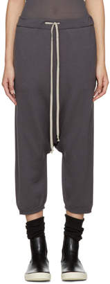 Rick Owens Grey Cropped Drawstring Lounge Pants