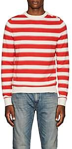 Zadig et Voltaire ZADIG ET VOLTAIRE MEN'S STRIPED COTTON SWEATER-RED SIZE S
