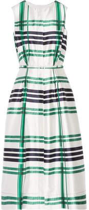 Oscar de la Renta - Plaid Silk And Cotton-blend Midi Dress - Emerald $2,390 thestylecure.com