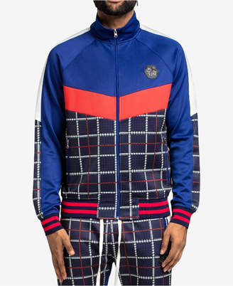 Hudson Nyc Men's Glen Plaid Track Jacket