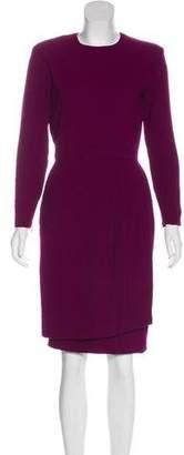 Christian Dior Long Sleeve Knee-Length Dress