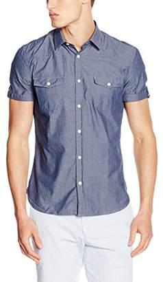 Esprit Men's Chamb Regular Fit Short Sleeve Casual Shirt