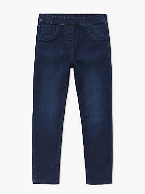 John Lewis Girls' Darkwash Jeggings, Blue