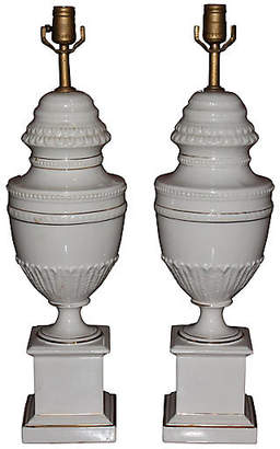 One Kings Lane Vintage Detailed Classical Urn Shaped Lamps