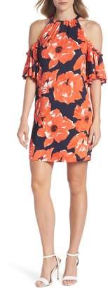 Trina Turk trina Lexi Poppy Cold Shoulder Shift Dress