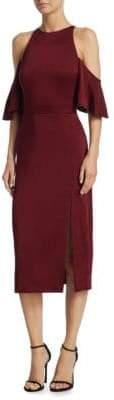 Cushnie et Ochs Mona Cold-Shoulder Pencil Dress