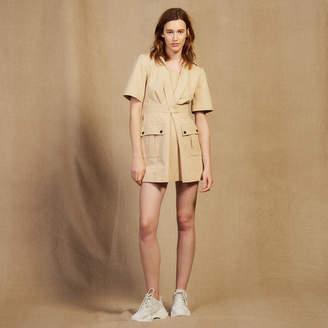 Sandro Short Safari-Style Dress