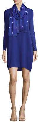 Eileen Fisher Long-Sleeve Silk Dress $215 thestylecure.com