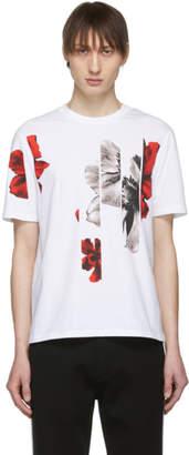 Neil Barrett White Flower T-Shirt