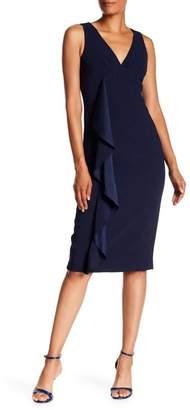 Trina Turk Polished V-Neck Dress