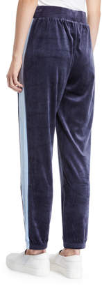 Juicy Couture Side-Striped Velour Track Pants