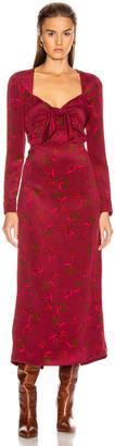 Rebecca De Ravenel Long Sleeve Zaza Dress in Red Combo | FWRD