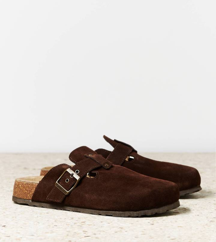 AEO Buckled Suede Clog