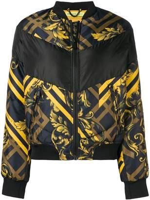 Versace puffer bomber jacket