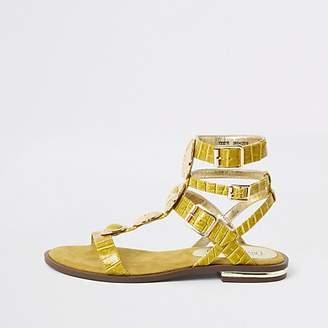 River Island Yellow gem gladiator sandals