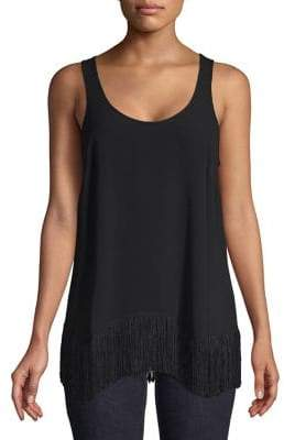 MICHAEL Michael Kors Scalloped Fringe Tank Top
