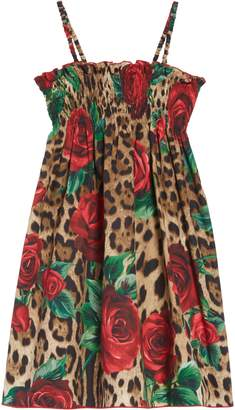 Dolce & Gabbana Floral Leopard Dress