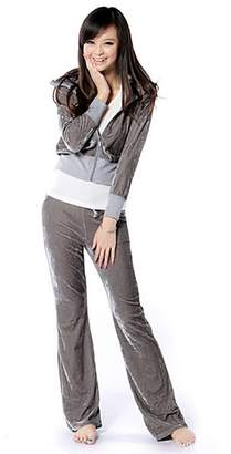 SDZYY Women'S Velour Hoodie+Pant Tracksuit Sport Sweat Suit Set Multicolor -M