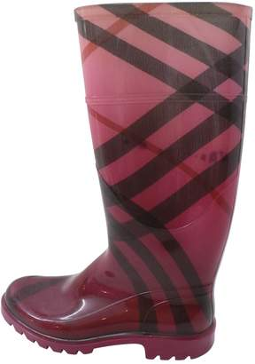 Burberry Pink Rubber Boots