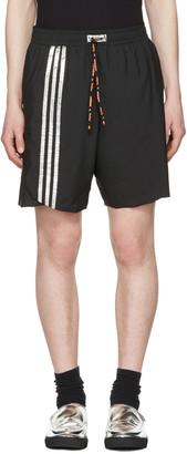 Adidas x Kolor Black Track Shorts $175 thestylecure.com
