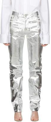 MM6 MAISON MARGIELA Silver Foil Effect Jeans