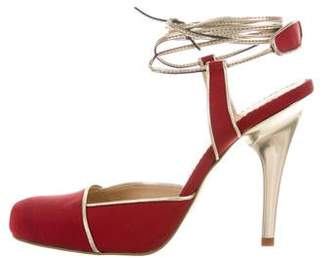 Stella McCartney Round-Toe Lace-Up Pumps