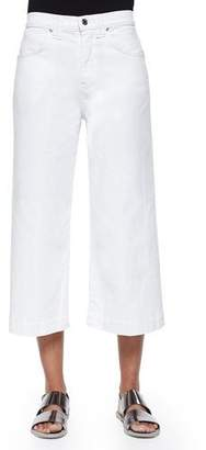 7 For All Mankind Runway Wide-Leg Denim Culottes, Runaway White $74 thestylecure.com