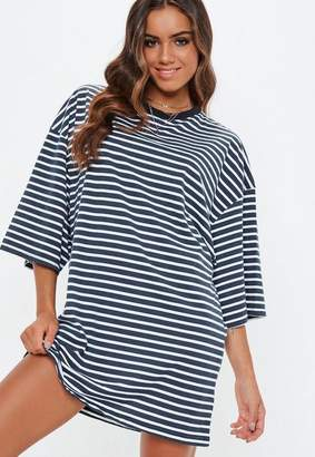 Missguided Tall Navy Oversized Stripe T-Shirt