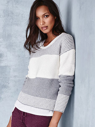 Victorias Secret Crewneck Crop Sweater $19.99 thestylecure.com