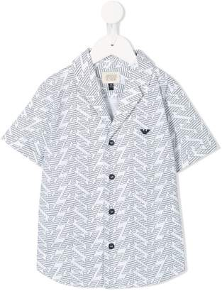 Emporio Armani Kids all over logo print shirt
