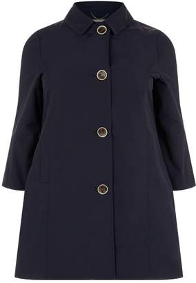 Elena Mirò Fluted Sleeve Trench Coat